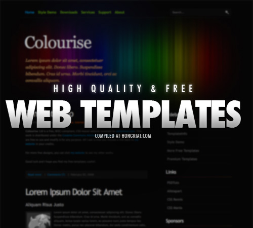 Choosing Your Free Web Templates | Mayurisama's Blog